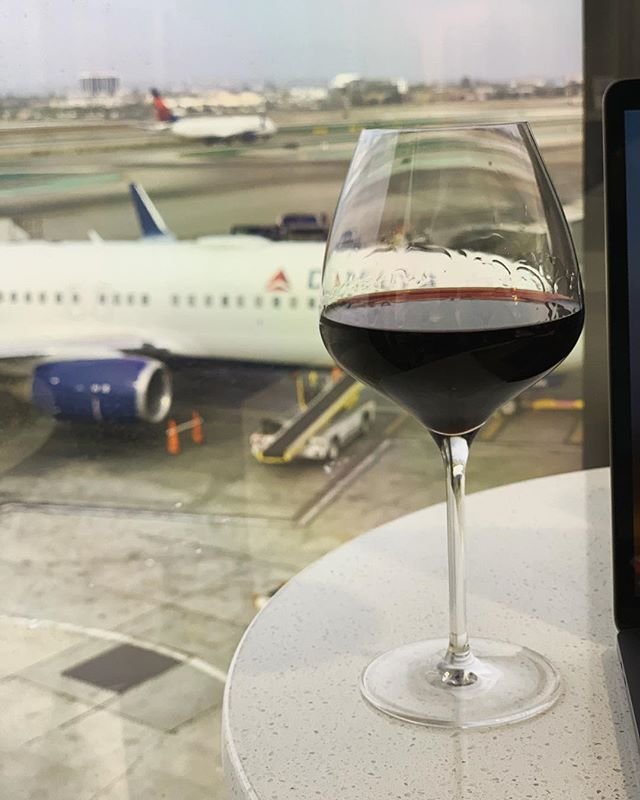 First things first🍷✈ @delta