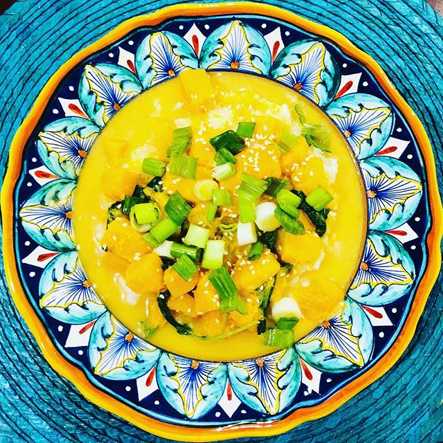 Miso ta-hungry for more of this Miso-Tahini Squash Soup. The weather is getting cold here in Boston which means it's #soupseason . See the recipe link in my bio. . . . . . #cooking #eatclean #fitfood #fitfoodie #wholefoods #vegan #veganrecipes #vegitarian #vegitarianfood #nutrition #healthyeating #healthyfood #healthy #recipe #recipes #quickmeals #quickrecipe #quickrecipes #miso #tahini #butternutsquash #soup #souprecipe #garlic #ginger #tahini #kale @epicurious