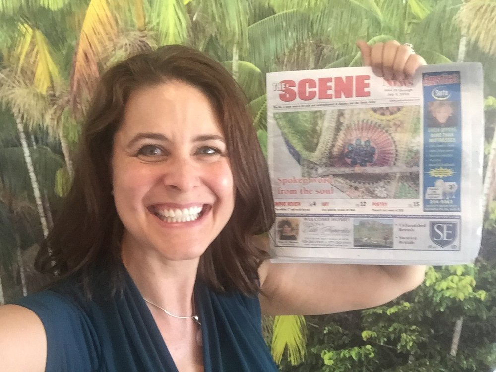 Thank you so much to Sedona Red Rock News for featuring my work and spoken word event in their paper. I truly appreciate it. As you can tell from the smile on my face:)