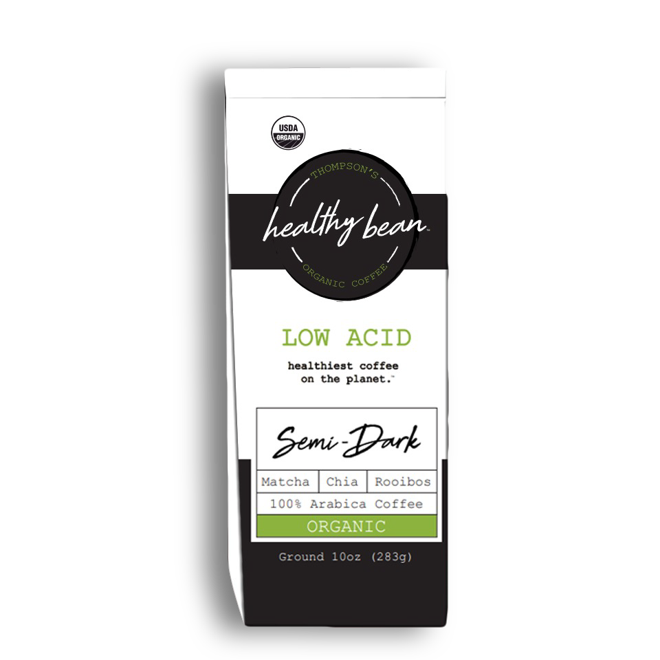 Single Bag   10oz Healthy Bean Organic coffee Semi-Dark Ground.   14.99