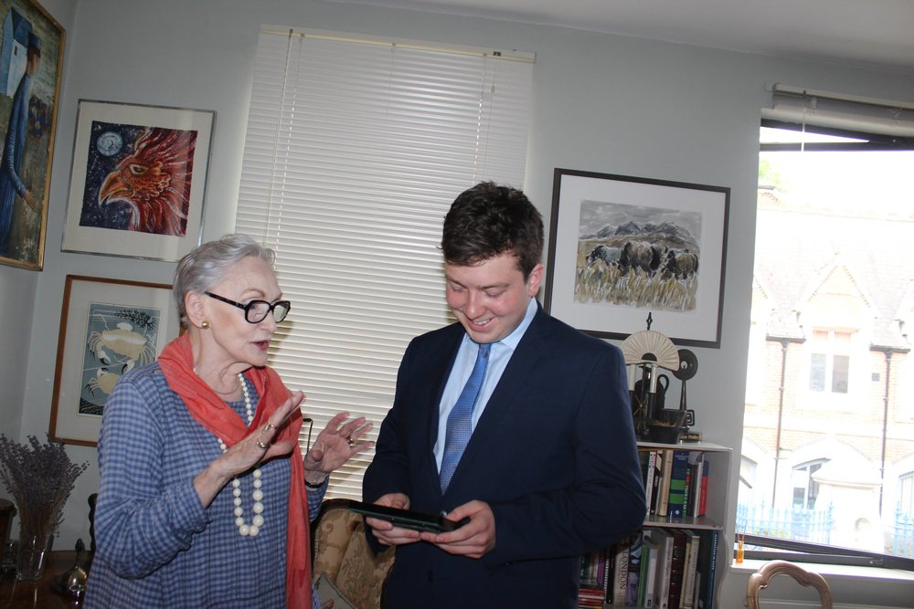 With Dame Siân Phillips in June 2018