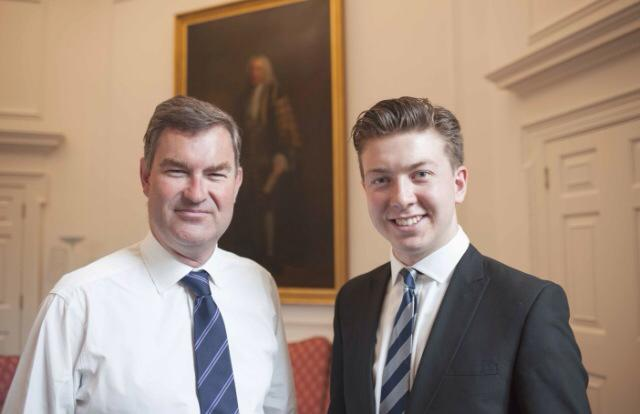 With David Gauke MP, now Justice Secretary, in 2015.