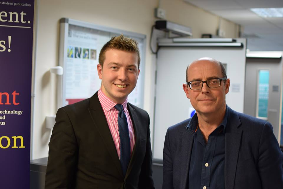 Post-interview with BBC Radio Four presenter, Nick Robinson, 2017.