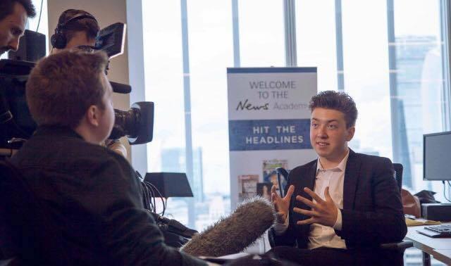 Theo at News UK (2015).