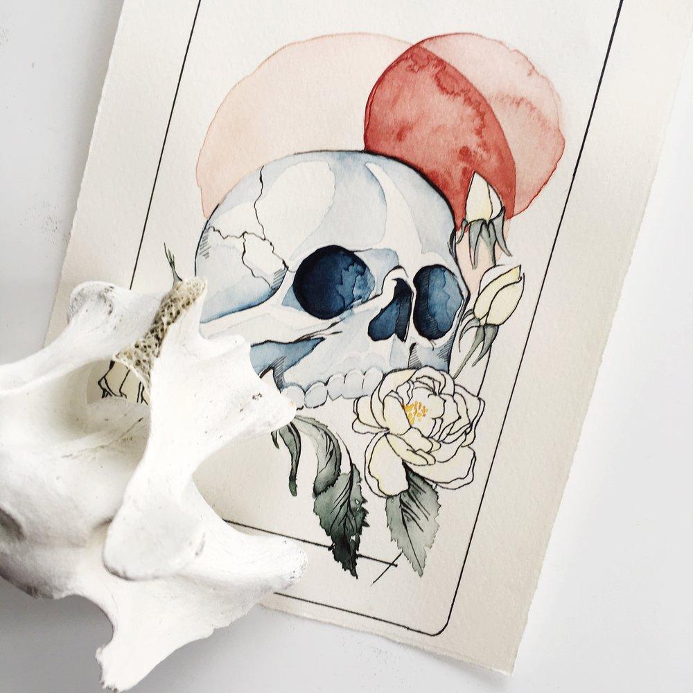 death tarot, vindur deck by leah pantea