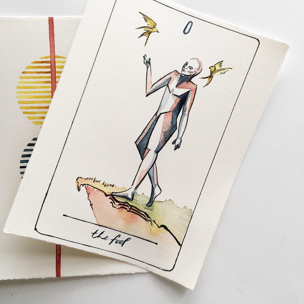 the fool, vindur tarot deck by leah pantea