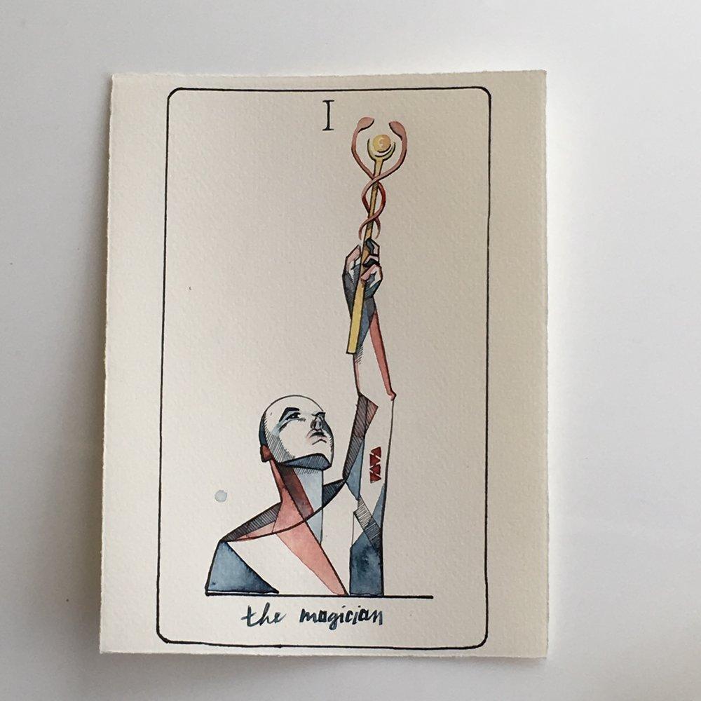 the magician, vindur tarot deck by leah pantea