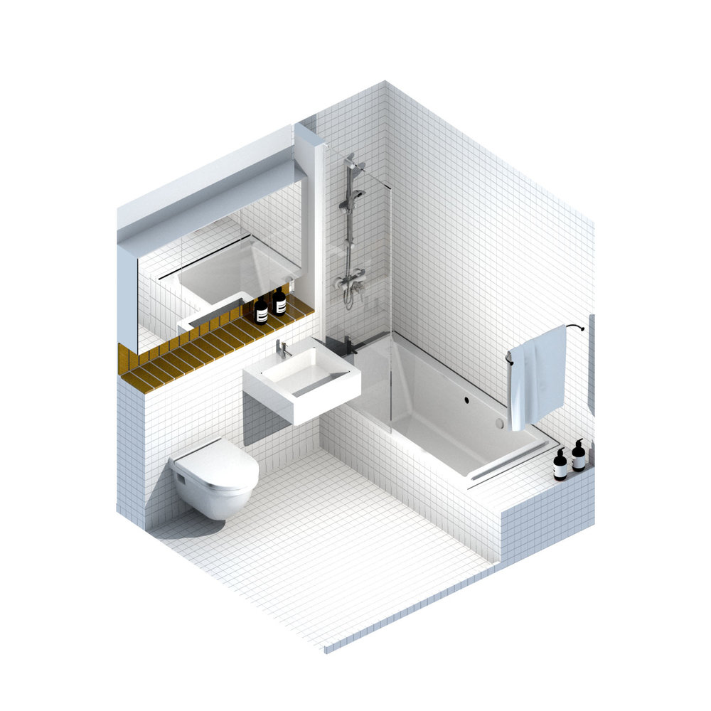 bathroom axonometric