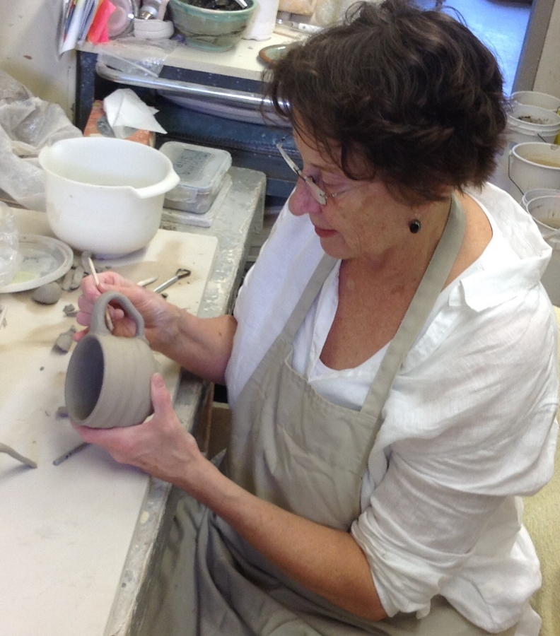 Mari Lise Stonehouse - When I create my pottery I like to pretend I'm celebrating a romantic soriee with family and friends, laying out a sumptuous feast on elegant bowls and generous platters, filling pitchers with sangria and arranging bouquets of flowers in vases.