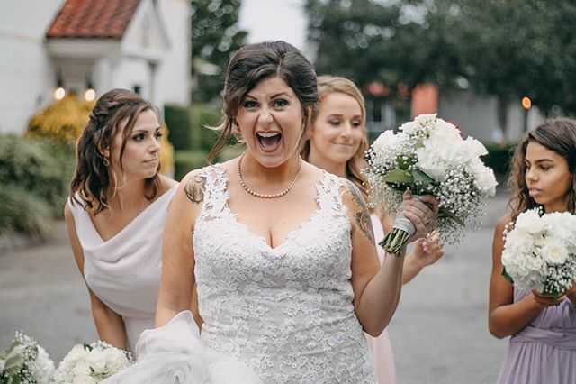 Can you tell she was super happy to marry her best friend!?