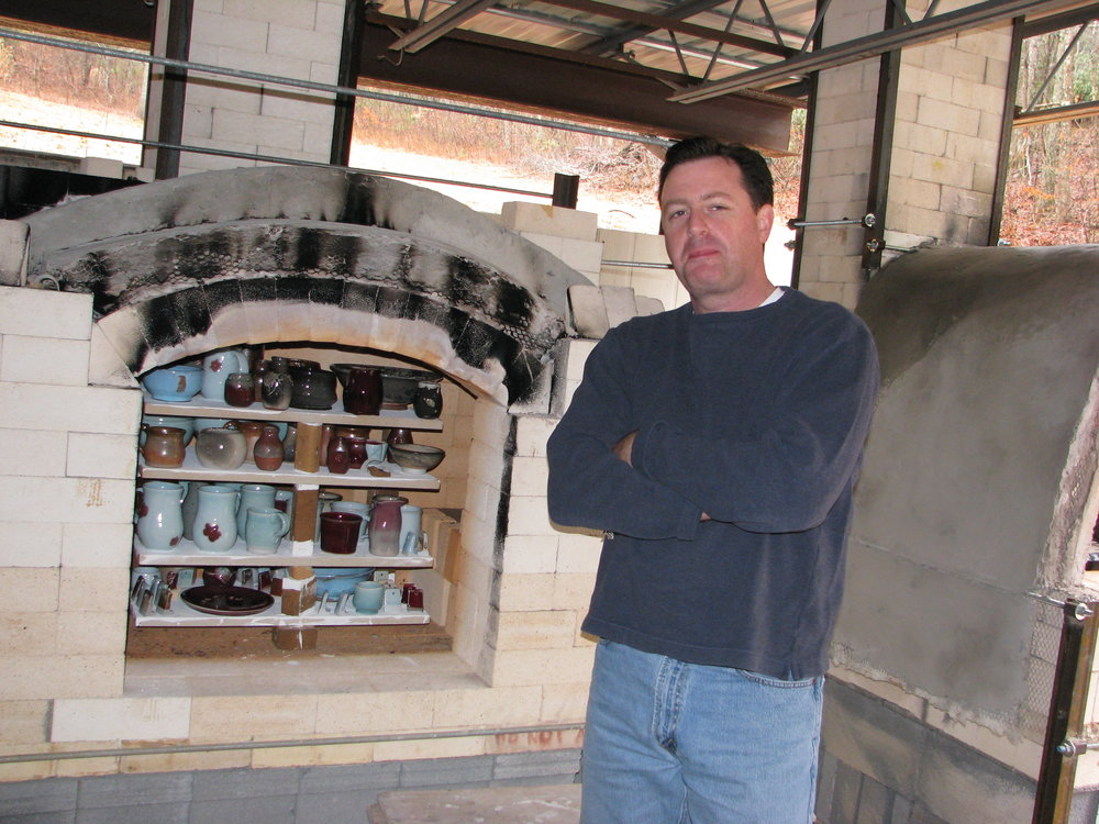 IN THE BEGINNING - I STARTED POTTERY AS A HOBBY BACK IN 2004 AFTER YEARS OF ADMIRING THE CRAFT.  I REMEMBER BEING attracted TO CLAY WHILE ATTENDING ART FESTIVALS and knew that someday i would pursue it.  the home i purchased had a small building at the back of the property and i converted it into a studio.  I had no skills and no clue about the process of making.  I BEGAN ATTENDING WHEEL THROWING CLASSES AND PRACTICING AS MUCH AS I COULD.  IT TOOK A WHILE BUT MY SKILLS GRADUALLY INCREASED.  i kept pursuing my clay education by attending as many workshops as possible.  this also helped me build a network of artists that would become a critical resource.