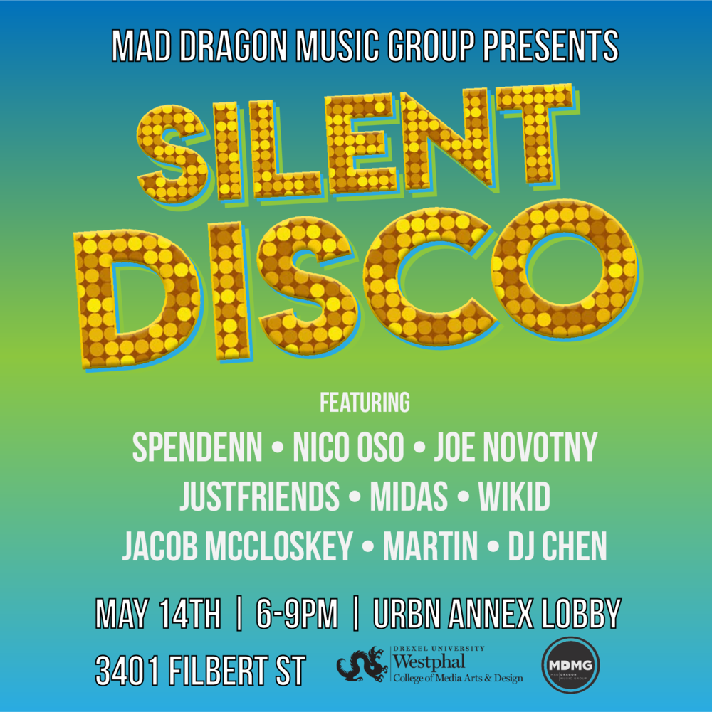 """Instagram post for Mad Dragon Music Group's """"Silent Disco"""" event"""