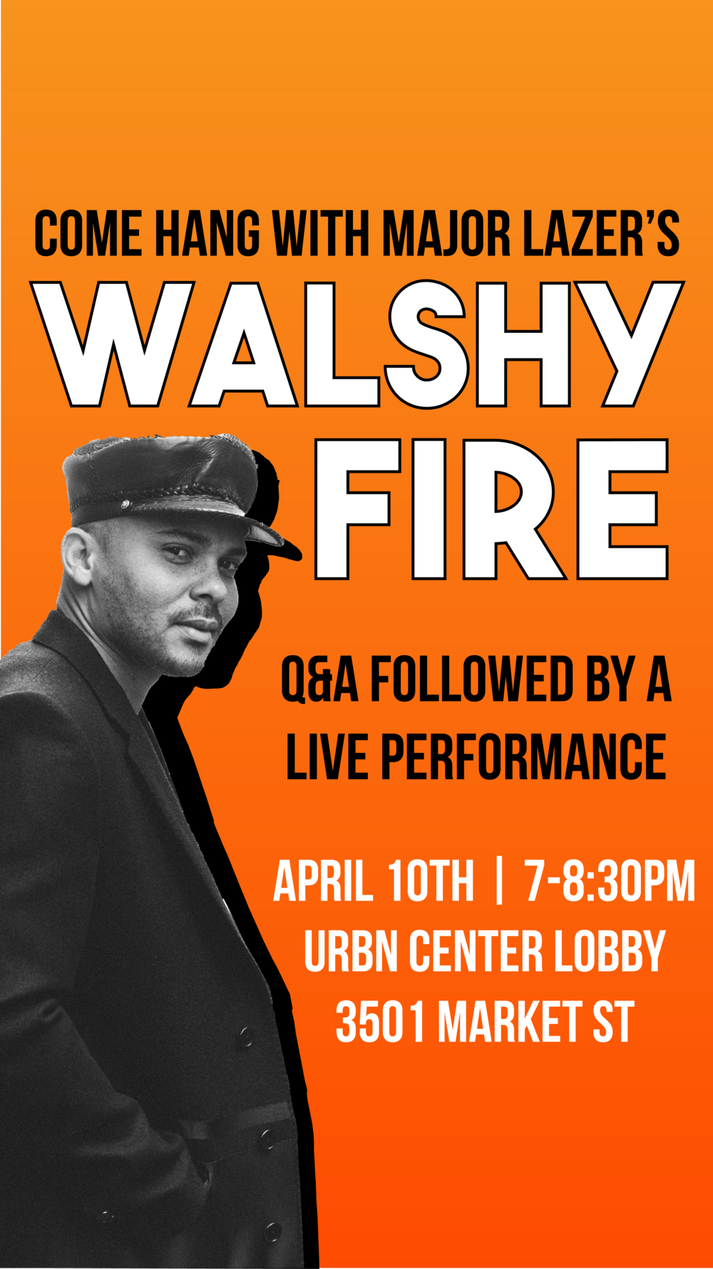 Instagram story for Mad Dragon Music Group's event with Walshy Fire of Major Lazer
