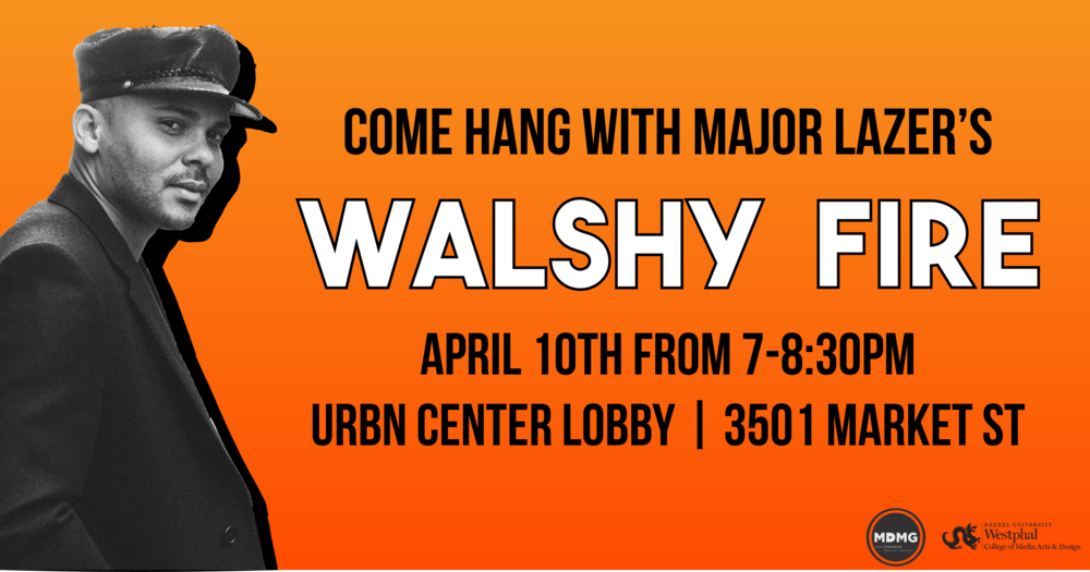 Facebook event header for Mad Dragon Music Group's event with Walshy Fire of Major Lazer