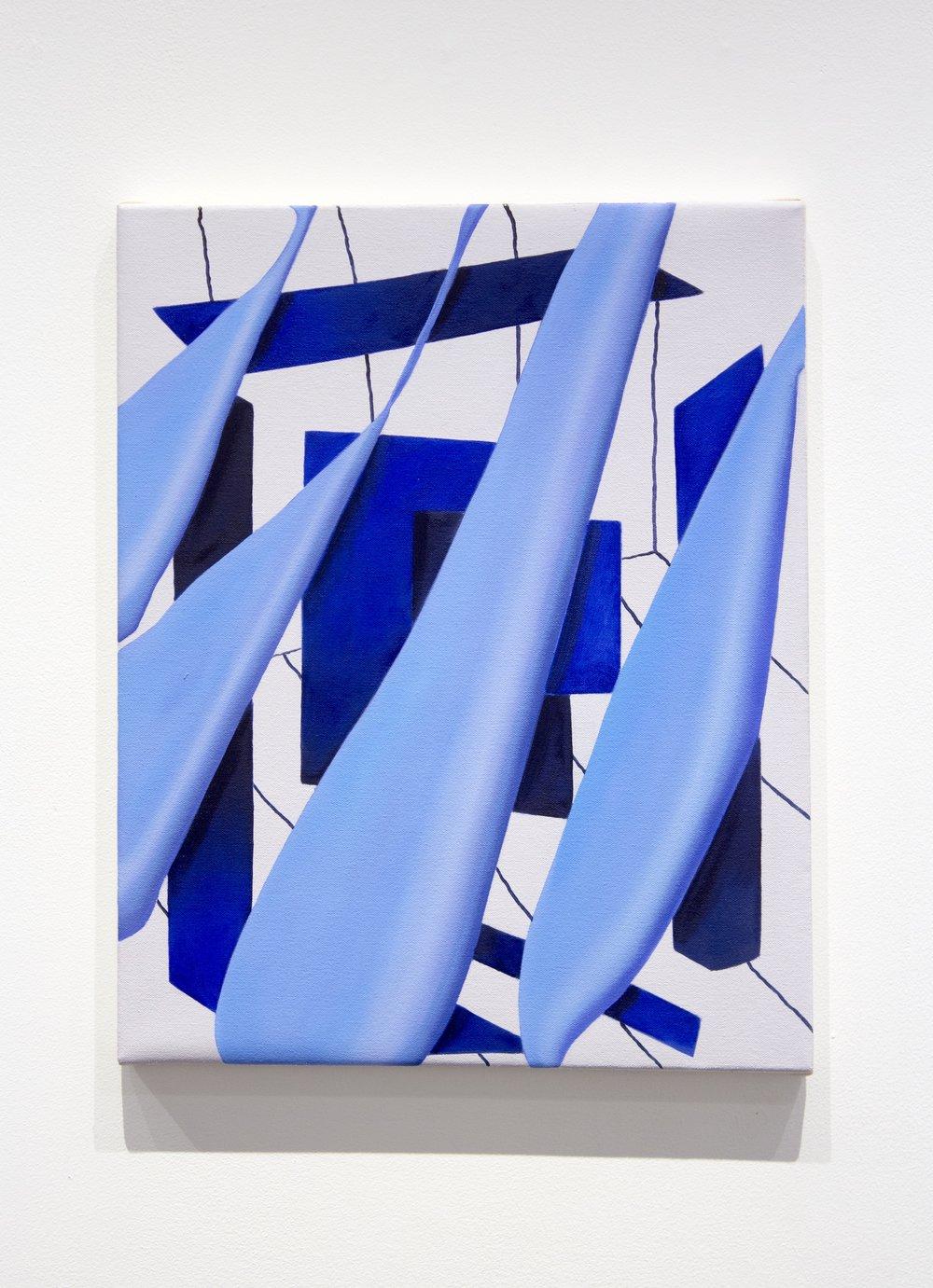 """Veil. Oil on canvas. 16 x 20"""". 2018."""