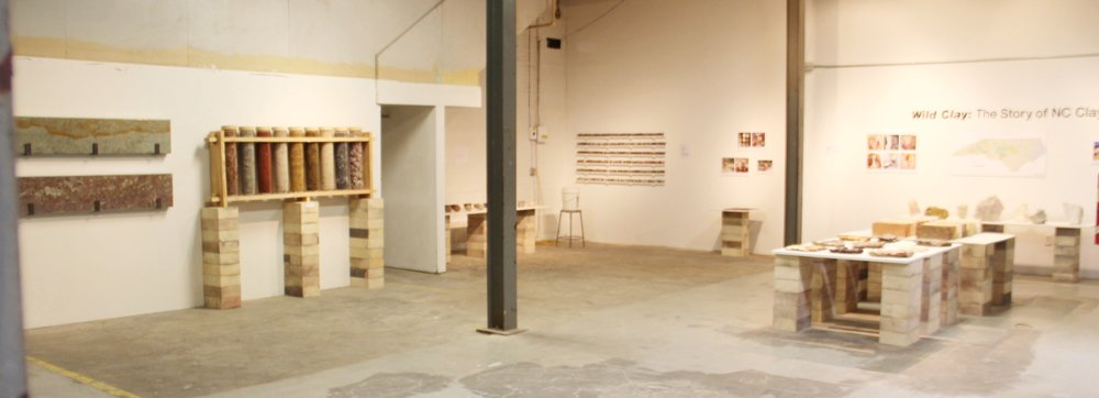 Distant view of the Wild Clay exhibition