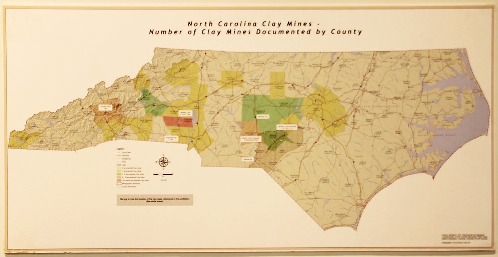 Map of NC Clay deposits.