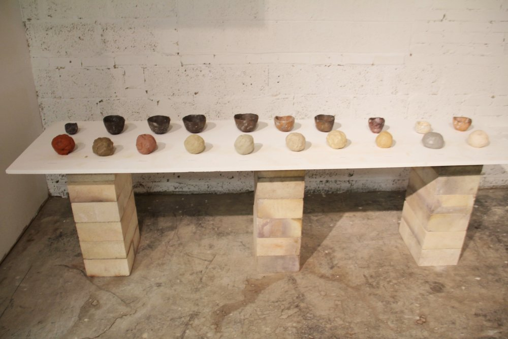 Cups made by Josh Copus from single source wild clays.