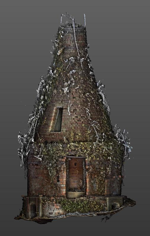 Scan of the Winchcombe Pottery bottle kiln, ivy and all! Image courtesy of  Bill Stebbing .
