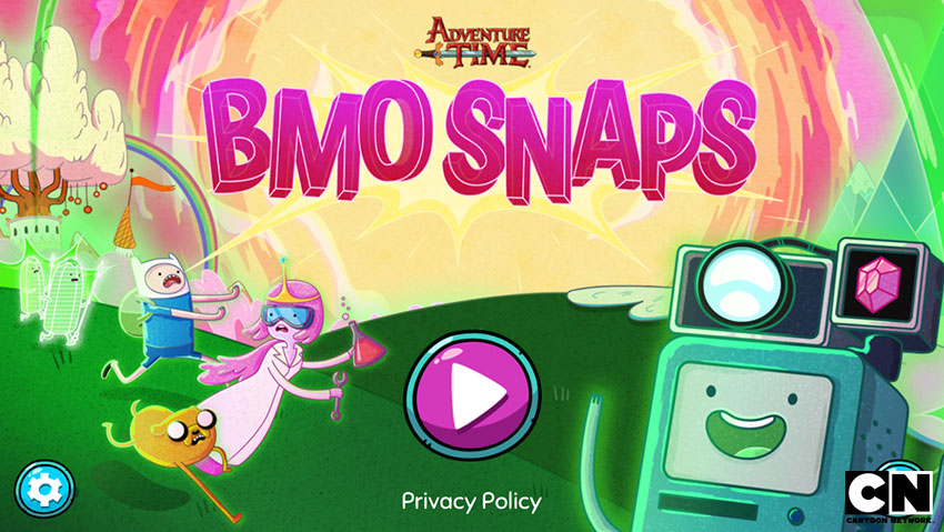 Splash page illustration for Cartoon Network's   BMO Snaps   photo hunter game. ©Cartoon Network