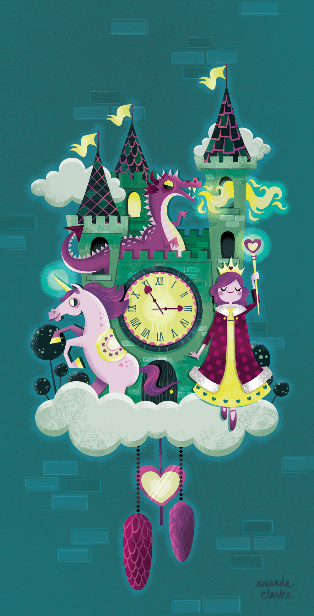 Personal piece inspired by castles and clocks.