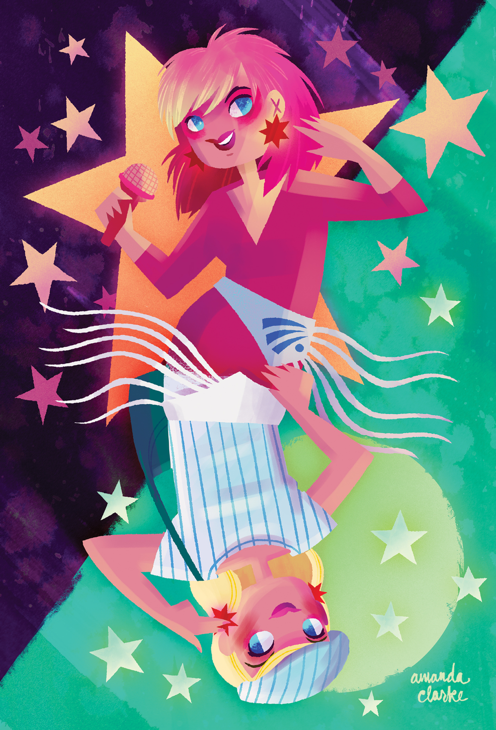"""""""Showtime, Synergy!""""   11 x 14"""" print available in the shop!"""