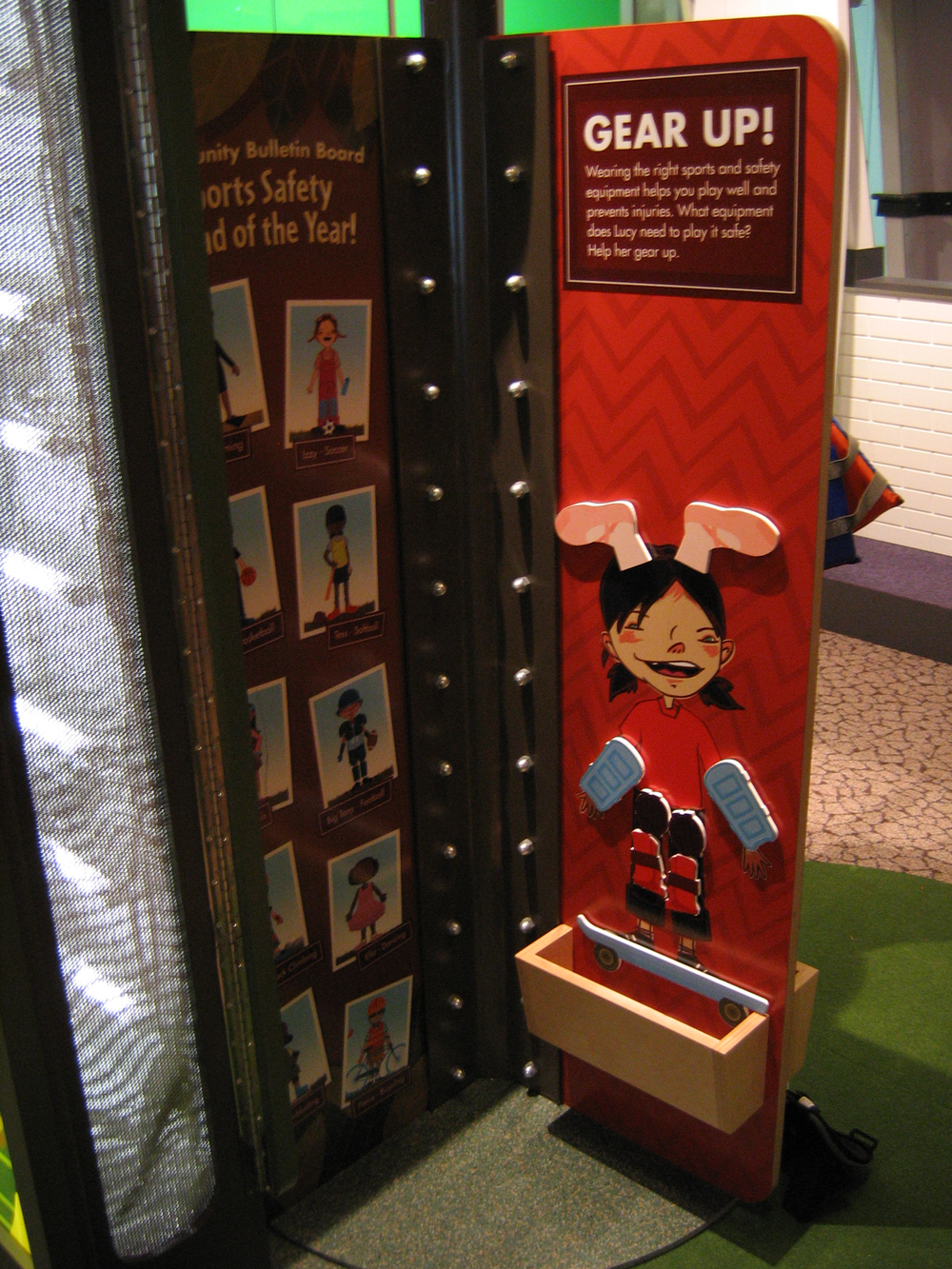 Character designs and kiosk games made with WGBH's interactive team for the Stepping Stone's Museum for Children's Healthyville exhibit.