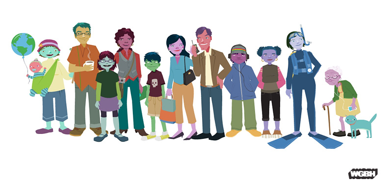 Character designs and interactive game content for the web series   Meet The Greens.