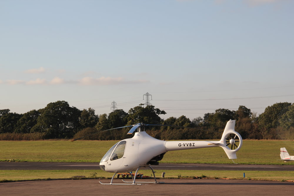 Cabri G2 on the helipad at london elstree aerodrome