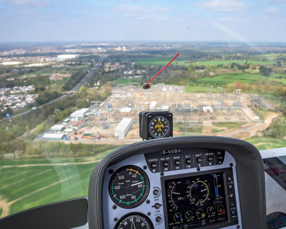 Cabri G2 Departing London Elstree Aerodrome