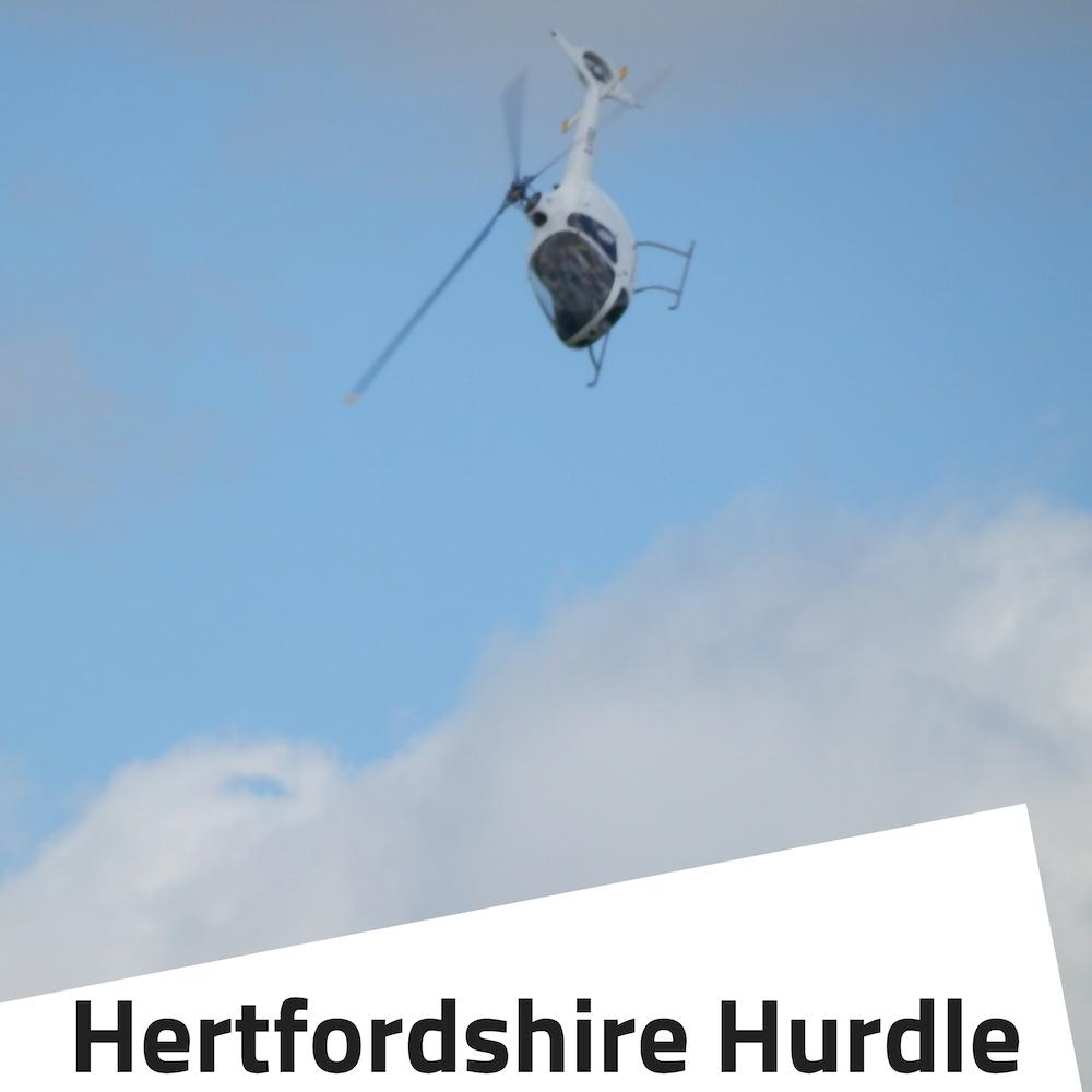 Flight in a helicopter around hertfordshire