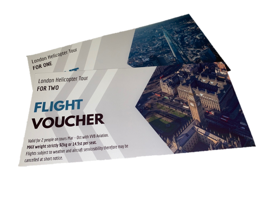 Gift Vouchers for Helicopter Sightseeing Flight Tour over London