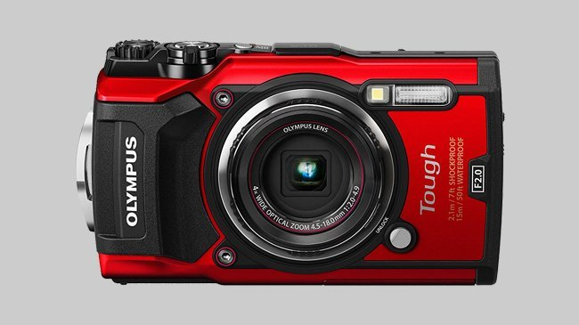 An image of the Olympus TG-5 Waterproof camera which Cosmos Companions have reviewed for The Best Travel Cameras of 2018.