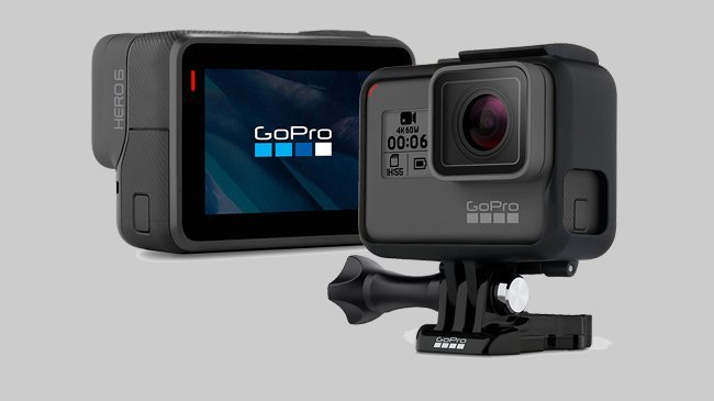 An image of the GoPro HERO6 Black which Cosmos Companions have reviewed for The Best Travel Cameras of 2018.