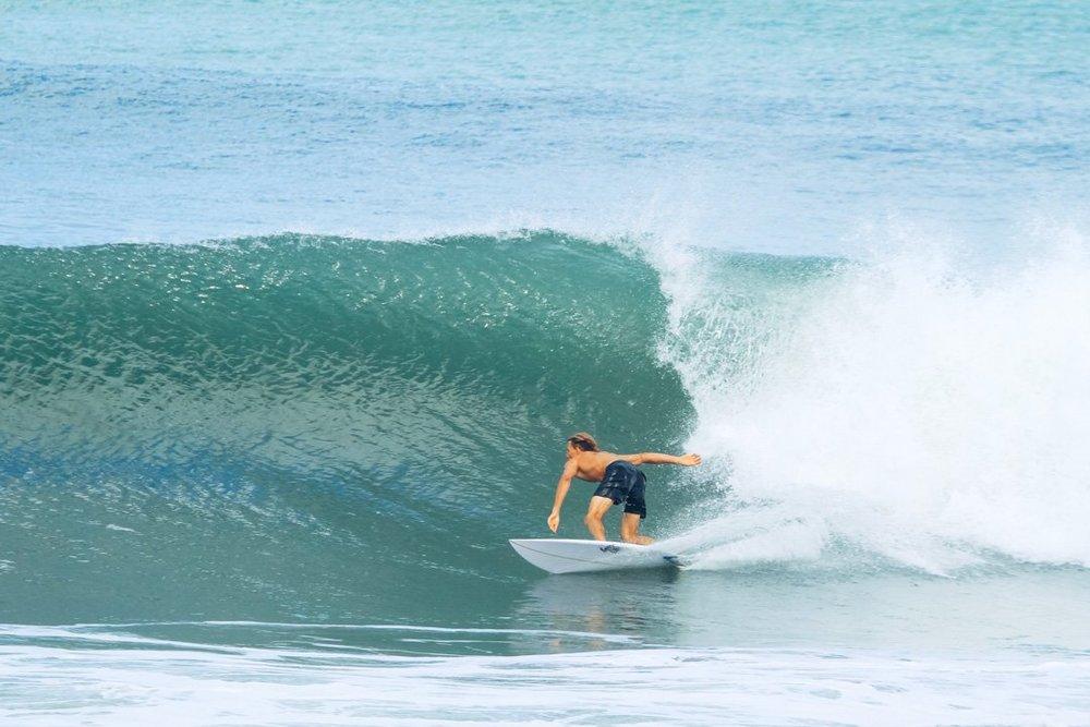 Morgan McDougall surfing Canggu Bali