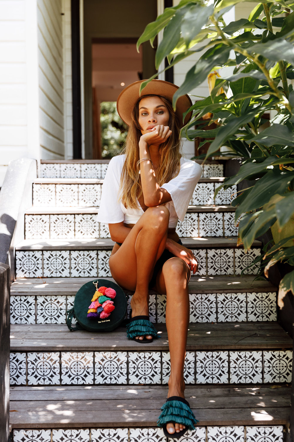 Tahnee Pinches at The Bower Byron Bay photoshoot by Morgan McDougall from Cosmos Companions for The Wolf Gang and Arizona Daphne.
