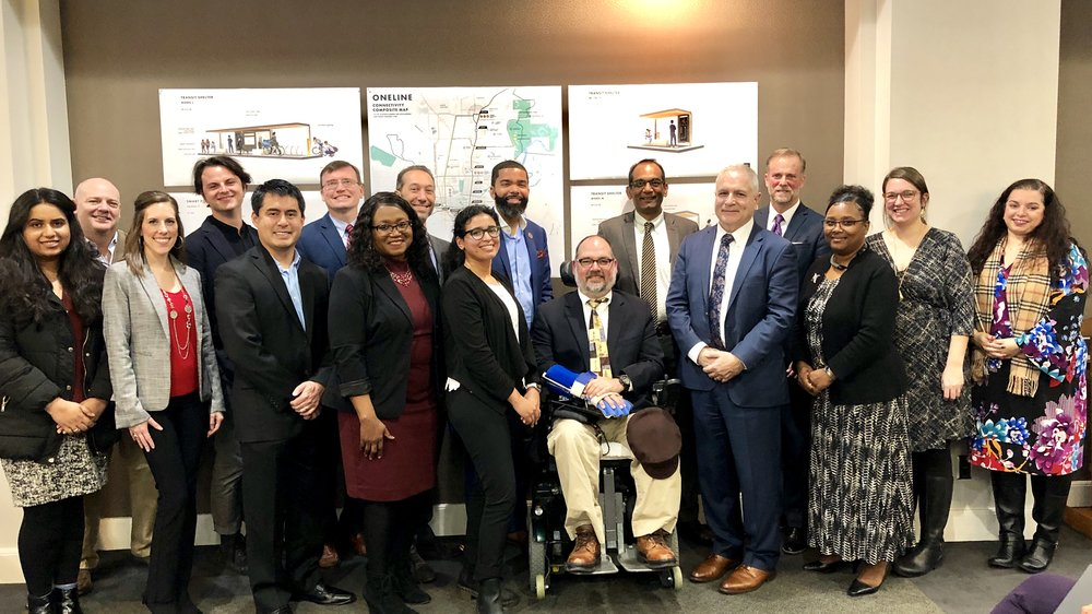 $1M grant from the FTA… - Will go toward research, planning, and development for our proposed ONELINE corridor. This grant will be a major step forward in making Jackson function like a city that has walkable high density urban development and a high quality mass transit system.
