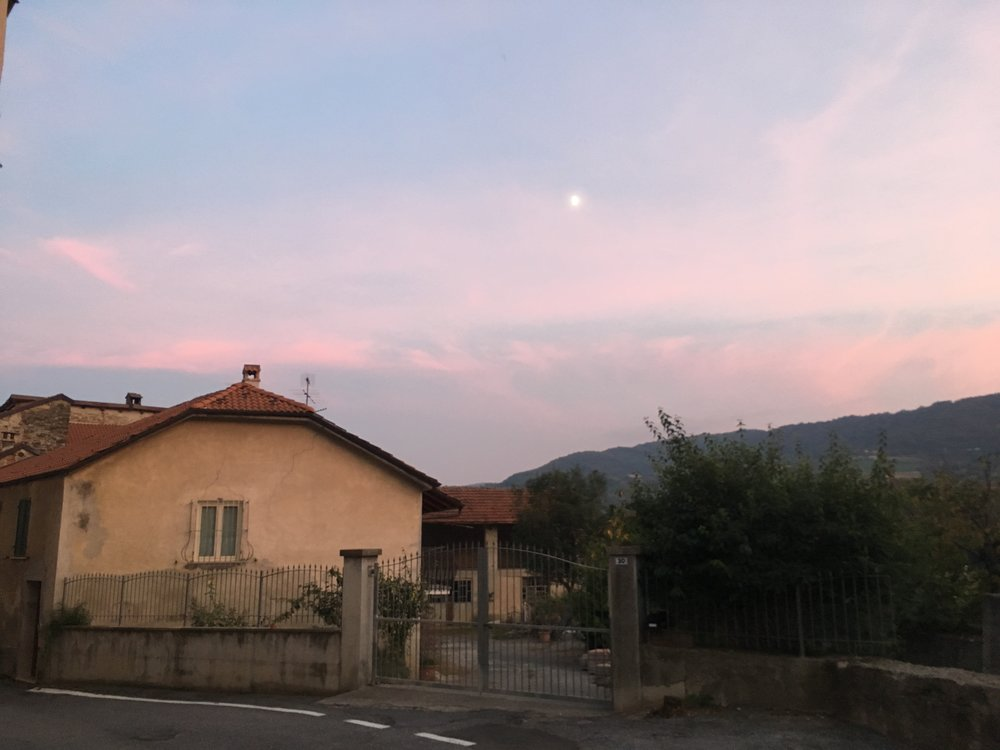 Monesiglio at dusk