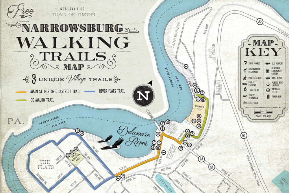 Narrowsburg Walking Trails Map