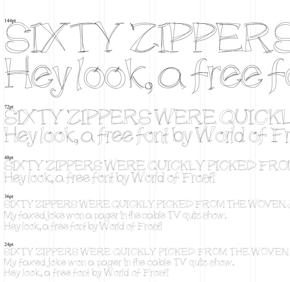Etchy Sketchy  - a free font