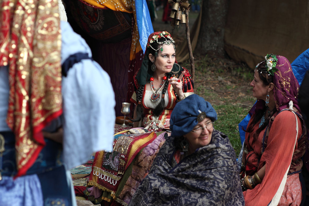 Gypsies at the Abbey Medieval Festival.