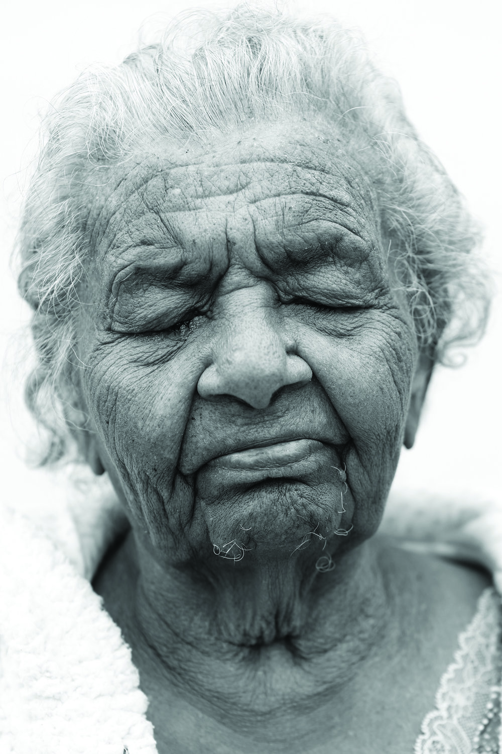 Aunty Margaret, from the Darumbal people of central Queensland. This portrait was taken as part of the exhibition Toonoonba Dreaming.