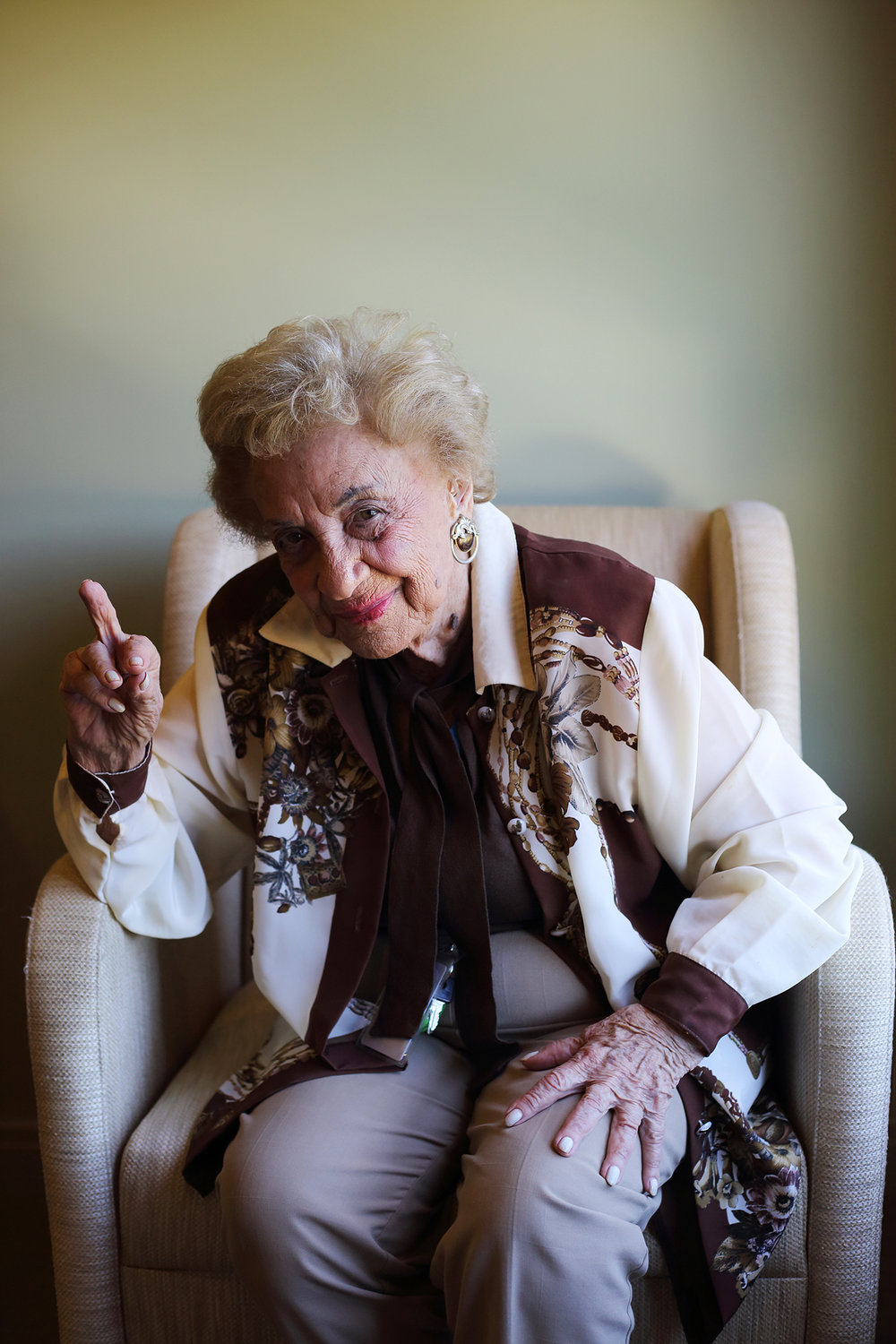 If 99-year-old Lena Goldstein could express one thing to Hitler, it would be to flip the bird. Growing up Jewish in Poland, her sense of humour helped her survive the Holocaust. On the night before she was certain she would die, she stayed up all night telling jokes to help keep her sanity. Without laughter, she would have given up hope or perished like many of her friends and family.