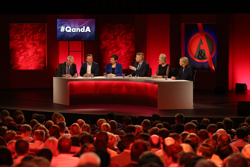 ABC's Q&A program, live in Toowoomba.