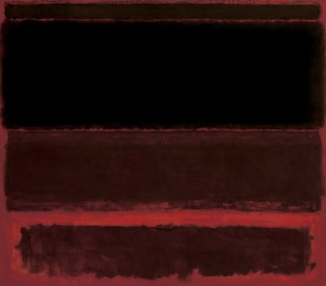Black on Deep Red - Mark Rothko