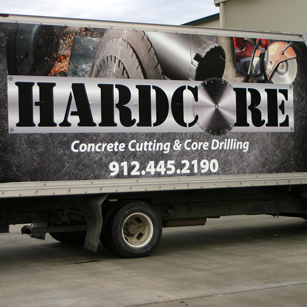 Hardcore Concrete   Truck Vehicle Wrap