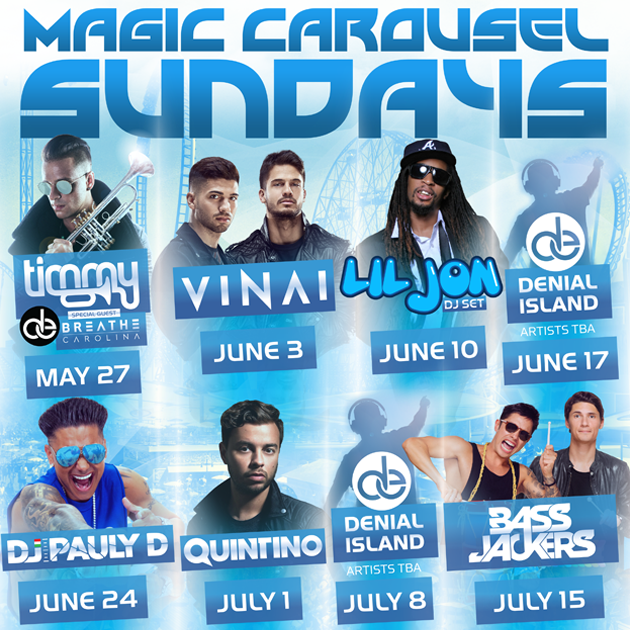 Magic Carousel Sundays   Various Flyers for Summer Event Coney Island, NY
