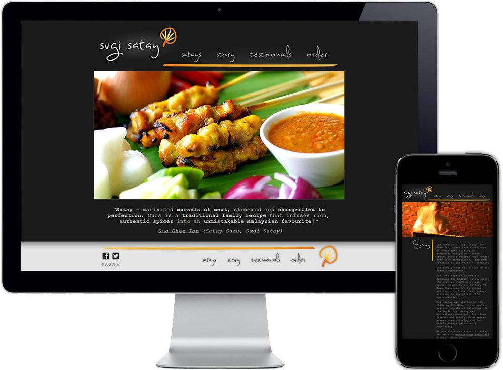 Sugi Satay Website