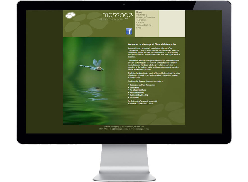 Elwood Osteopathy Massage Website