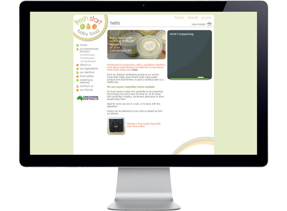 Fresh Start Baby Food Website